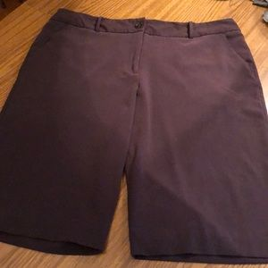 Dressy Brown Stretch Shorts